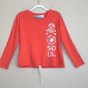 Soulcycle Skull Cross Bones Drawstring Sweatshirt